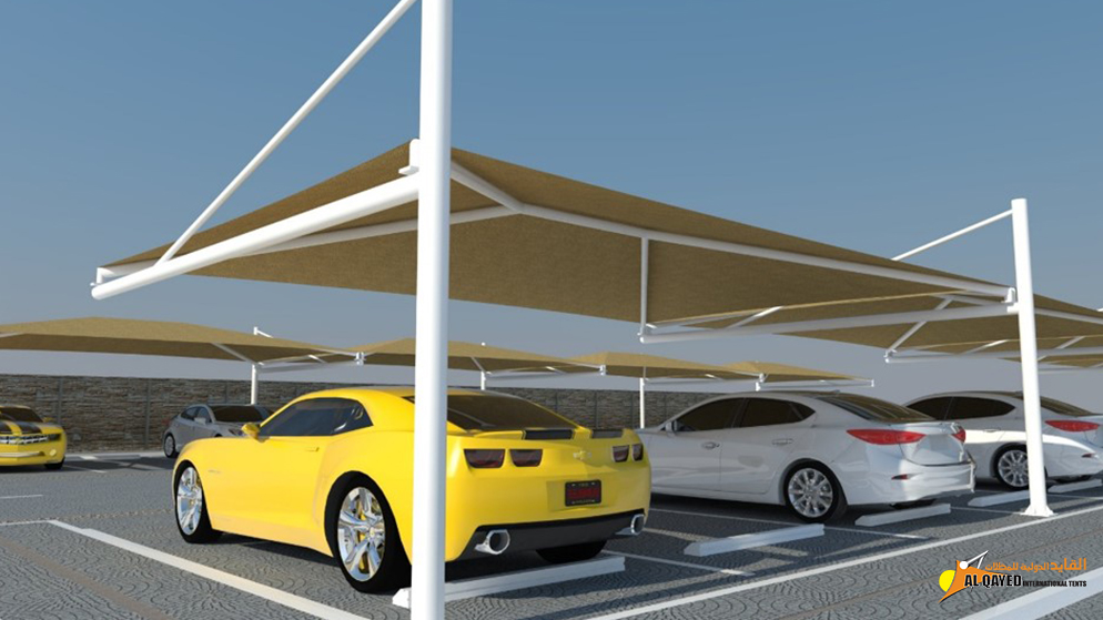 IA.2.B. Car parking Shade- (Hip Type) for commercial establishments with large parking spaces