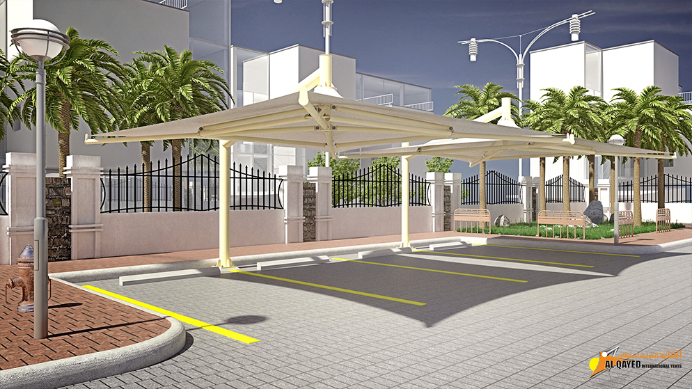 IA.4.B. Car parking Shade- (Conical Type) design that creates a cone top