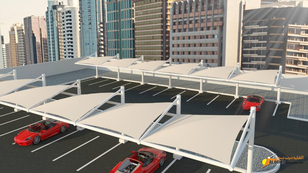 IA.5.A. Car parking Shade- (Sail Type) shade design with a flat surface