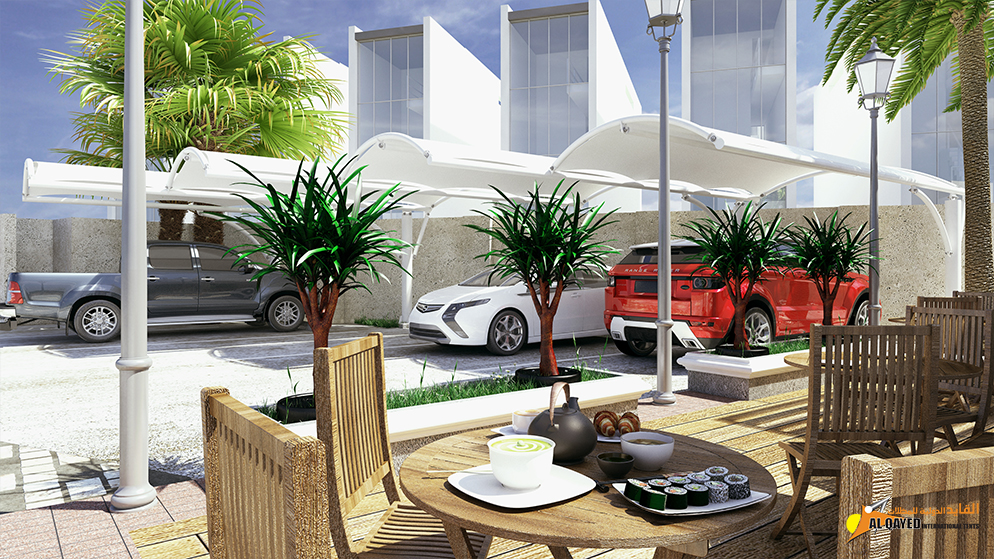 IA.6.B. Car parking Shade- (Custom Made Type) customers choice of design and structure