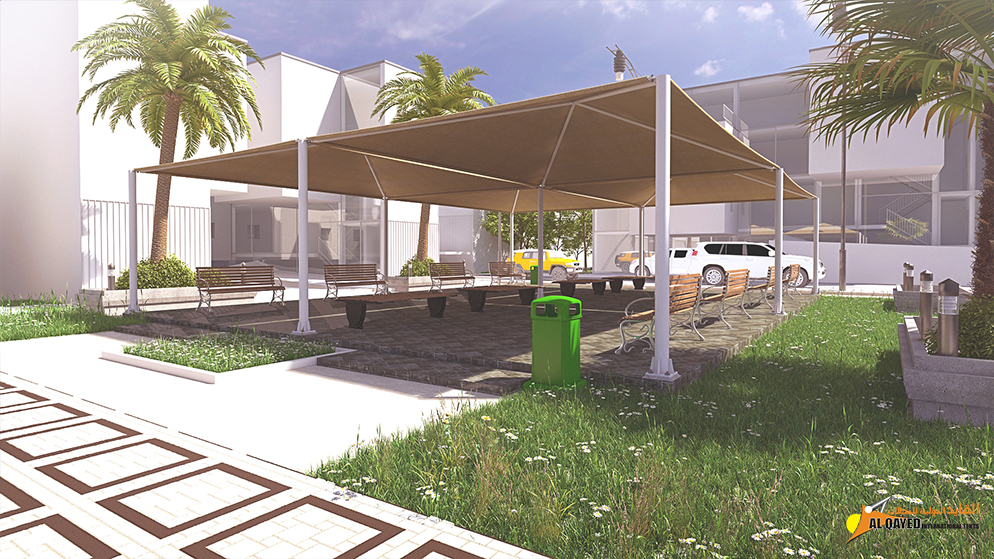 IB.1.B. Sun Shade- (Pyramid Type) often seen in waiting areas and sitting areas