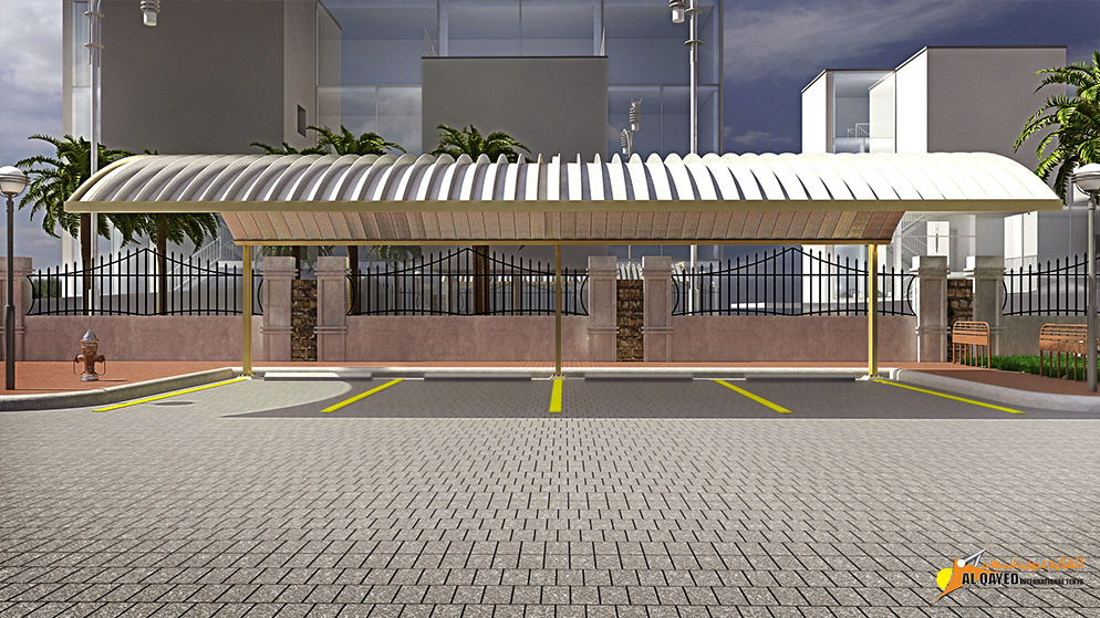 IIA.1.A. Car parking Shade- (Custom Made Type) another shade for commercial establishments with parking spaces