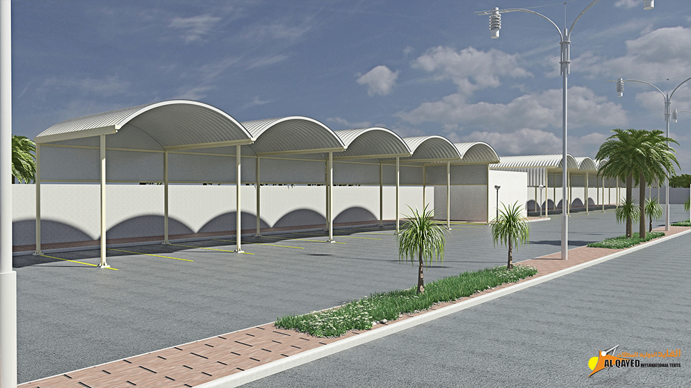 IIA.2.B. Car parking Shade- (Custom Made Type) for commercial establishments with parking spaces